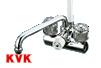 ケーブイケー(KVK)デッキ形一時止水付2ハンドルシャワーKF206
