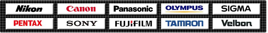 高価買取メーカー一覧-Nikon、Canon、パナソニック、オリンパス、シグマ、ペンタックス、SONY、FUJIFILM、TAMRON、Velbon